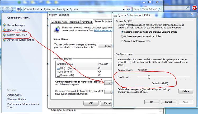 Increasing System Restore date range-capture.png