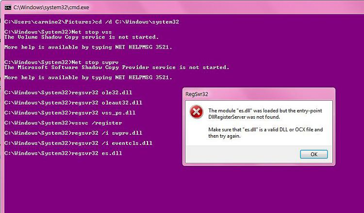 VSSADMIN does not work on my W7 rigs-e3.jpg