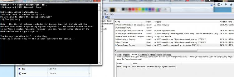 Scheduled Image Backup gives me strange warning before running.-task-