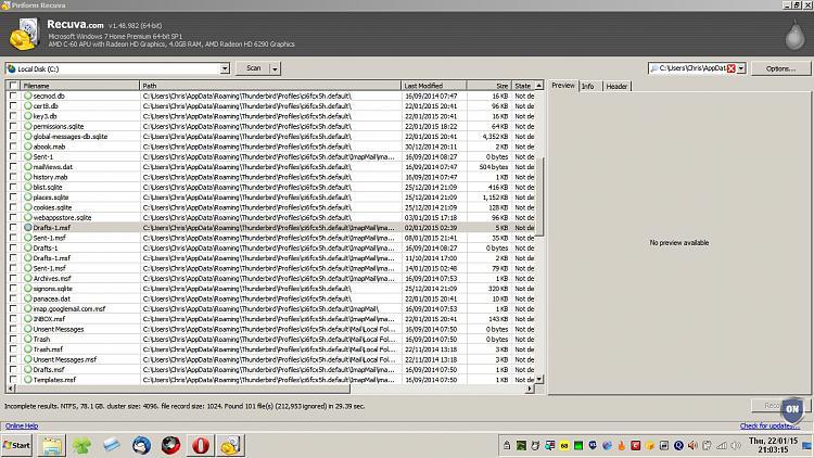 Lost Thunderbird & important folders when synchronising computers!-recuva.jpg