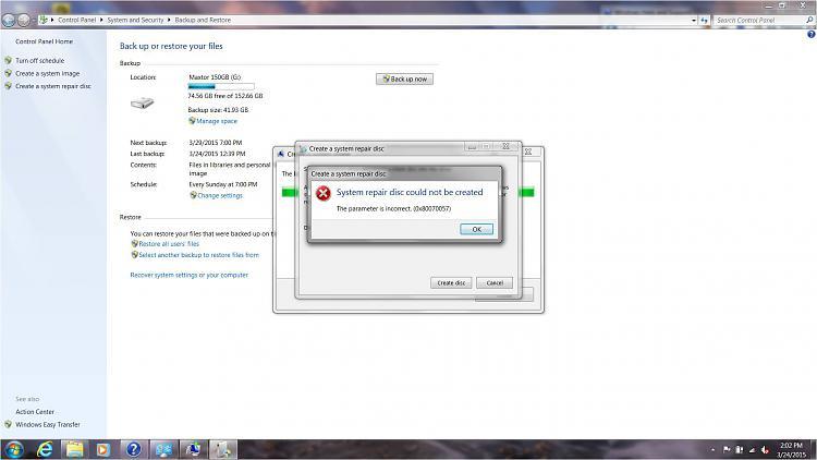 Create System Repair Disk Failed - Error 0x80070057-repair-disk-error-03242015.jpg