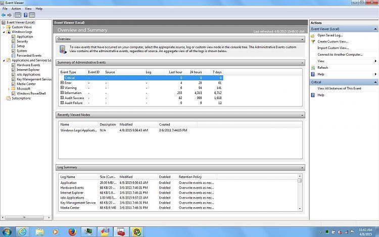 TaskEng.exe Window Appears on Startup - Restore? Repair? Malware?-event-viewer-summary.jpg