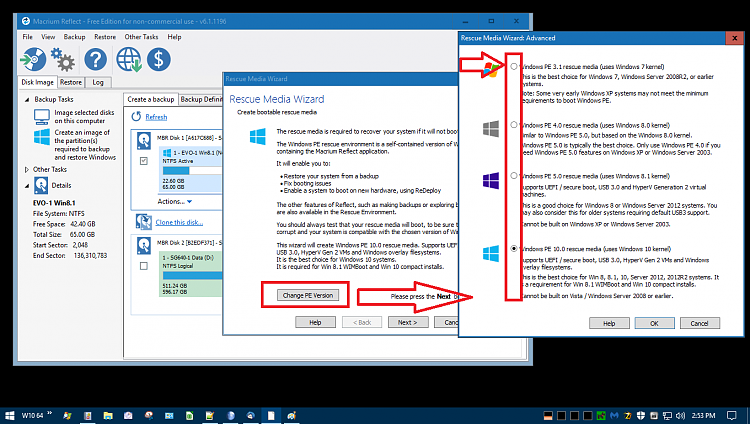 Windows PE Rescue Disk for Macrium Reflect Free - testing question-macriumpe.png