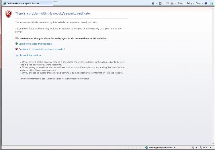 Certificate error? please help Solved - Windows 7 Help Forums