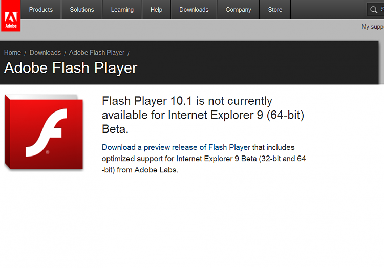 IE9 & Adobe Flash-captureadobesite.png