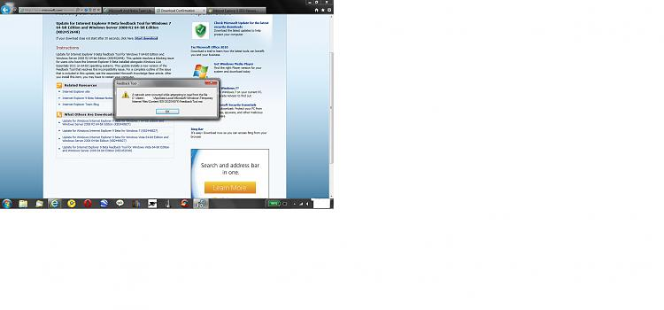 Internet Explorer 9 (IE9) Release Candidate (RC) on February 10, 2011-feedback-tool-install-error.jpg