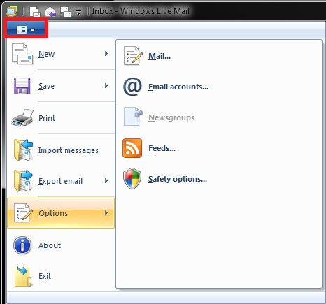 How do I access Tools in Windows Live Mail-menu.jpg