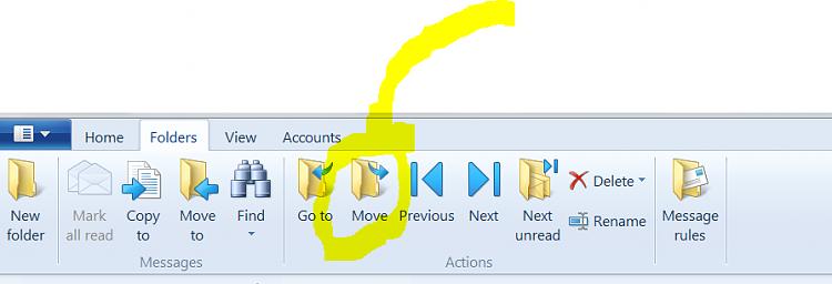 how to restore windows live mail storage folders