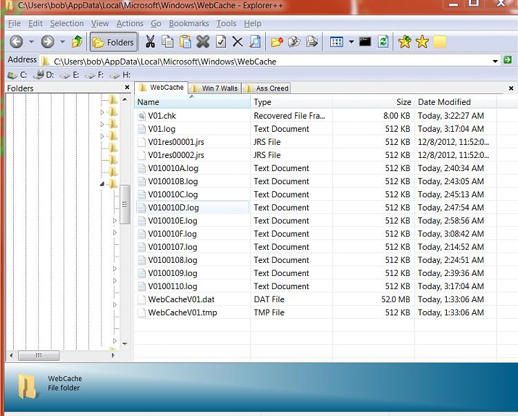 IE 10 on Windows 7 SP1 x64 Professional:  WebcacheV01.dat size-121112-web.png