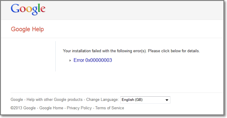chrome error no.3 while installing.-error.jpg
