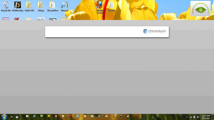 Chromium OS Image Stuck on top of Desktop Icons-chromium.png
