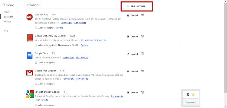 Chrome extensions not clickable-capture.png