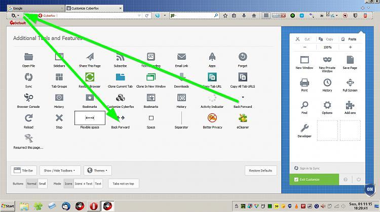 make arrow in address bar smaller? (XP, FF)-back-forward-cyberfox-2.jpg