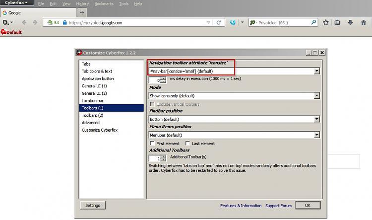 make arrow in address bar smaller? (XP, FF)-navbar-cyberfox.jpg