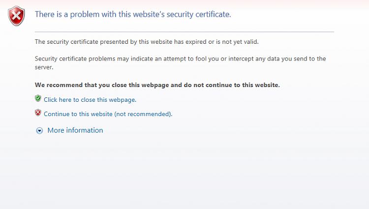 IE11 Certificate Error on my tabs Solved - Windows 7 Help Forums