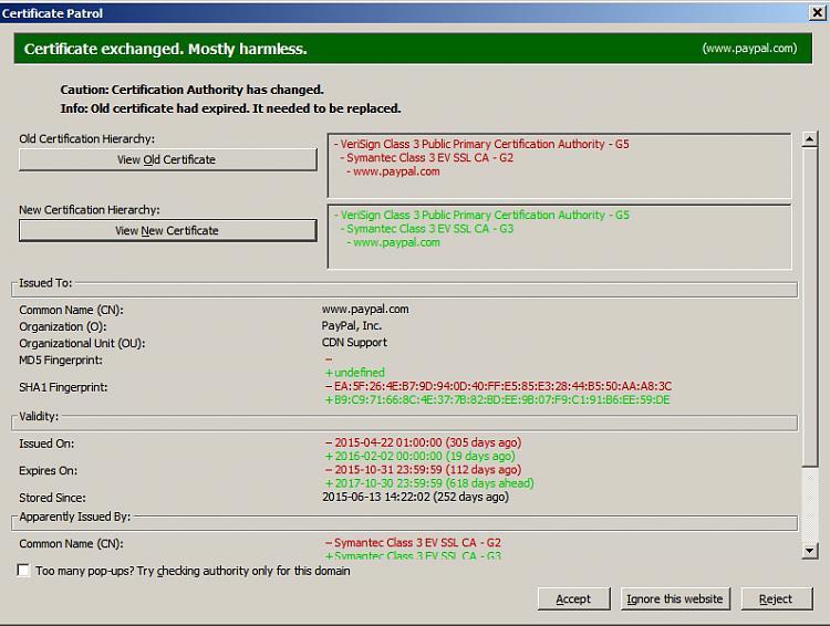 "Paypal login returns ""obsolete cipher suite"" error then freezes-certificate-patrol.jpg"