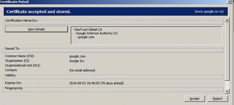 Firefox update has caused a problem-cert-patrol.jpg