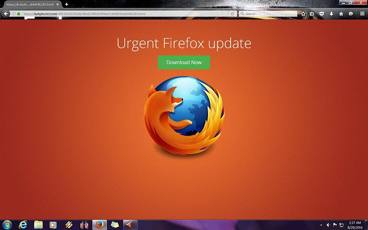 A question about a Firefox popup - Windows 7 Help Forums