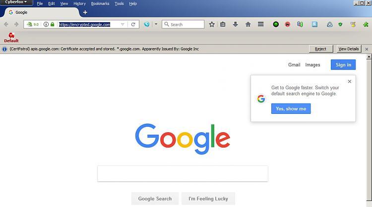 Annoying Chrome invitation-cyberfox.jpg