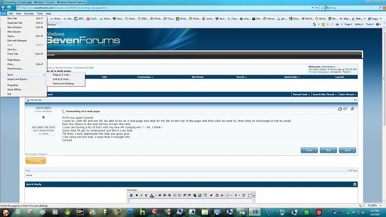 forwarding of a web page-send.jpg