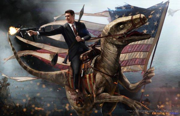 Funny and Geeky Cool Pics [2]-19a559853b529116ef67ead3220a3a0b-ronald-reagan-riding-velociraptor.jpg
