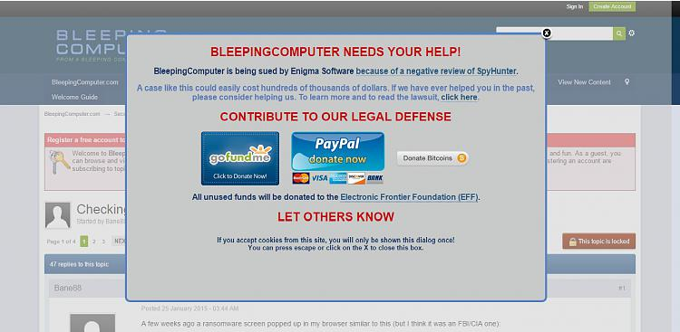 Maybe a stale news but BleepingComputer in Lawsuit-bleepneeds.jpg