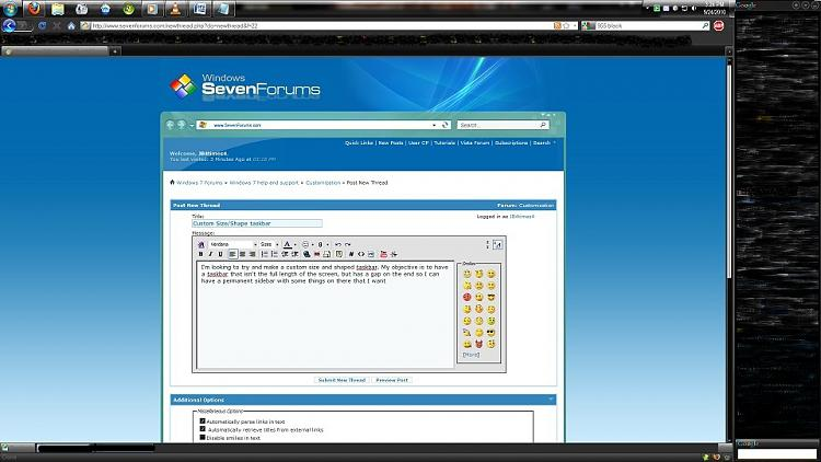 custom taskbar windows 7