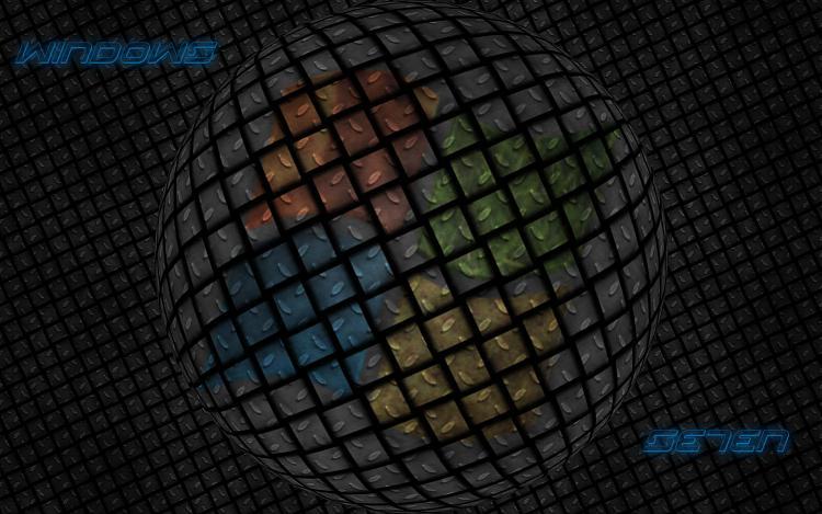 Custom Windows 7 Wallpapers - The Continuing Saga-se7en-black-metal-3d.jpg