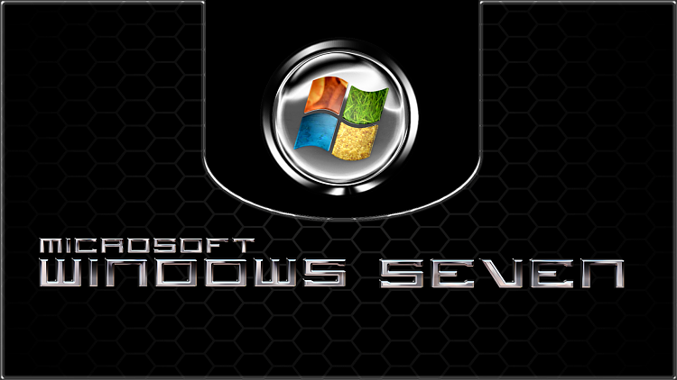 Custom Windows 7 Wallpapers - The Continuing Saga-honeycomb_black_chrome-se7en.png