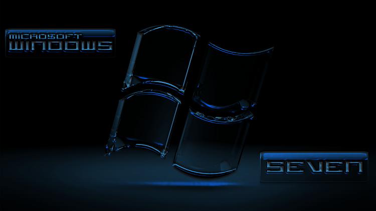 Custom Windows 7 Wallpapers - The Continuing Saga-se7en_black_glassblue.png