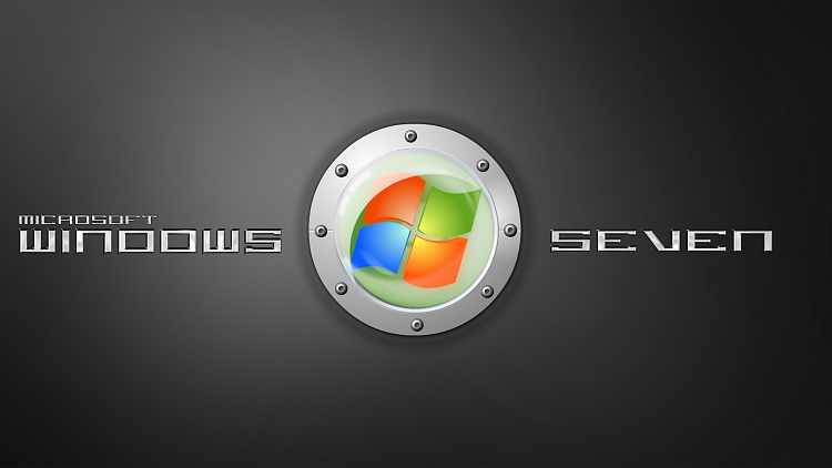 Custom Windows 7 Wallpapers - The Continuing Saga-seven-metal-green-logo.png
