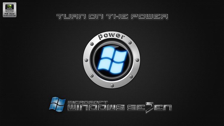 Custom Windows 7 Wallpapers - The Continuing Saga-se7en_power_button-black_carbon_steel.png