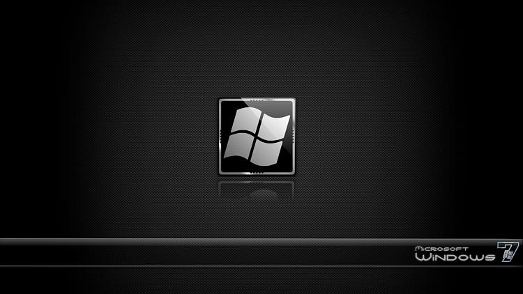 Custom Windows 7 Wallpapers - The Continuing Saga-se7en_black_carbon_steel_glass.png