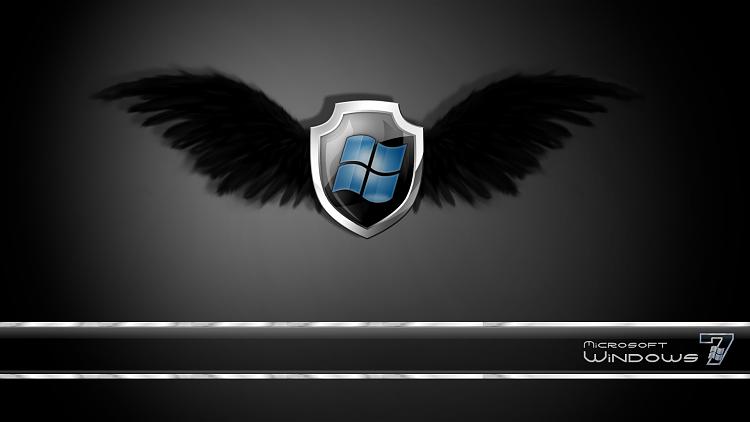 Custom Windows 7 Wallpapers - The Continuing Saga-se7en_winged_shield.png