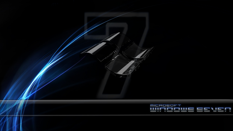 Custom Windows 7 Wallpapers - The Continuing Saga-se7en-black-glass-blue-glow.png