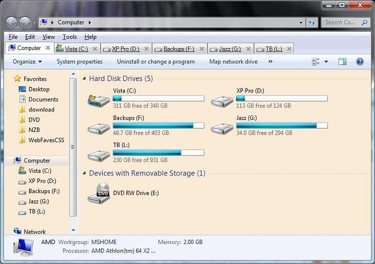 How to make Windows Explorer branch out in Start menu?-qttabbar.jpg
