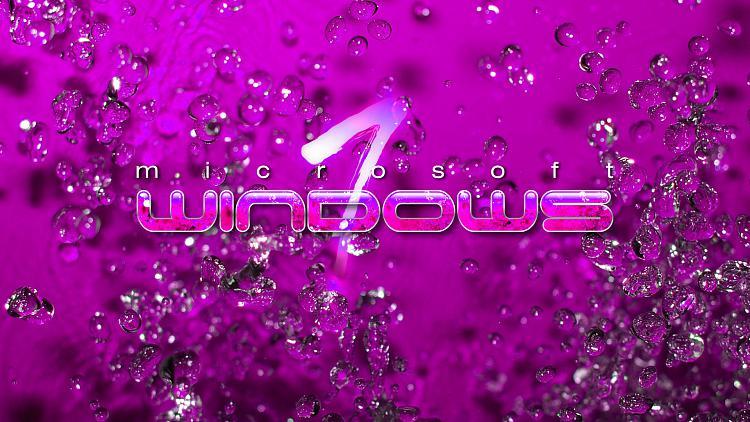 Custom Windows 7 Wallpapers - The Continuing Saga-win7-water-drops-pinkii.jpg