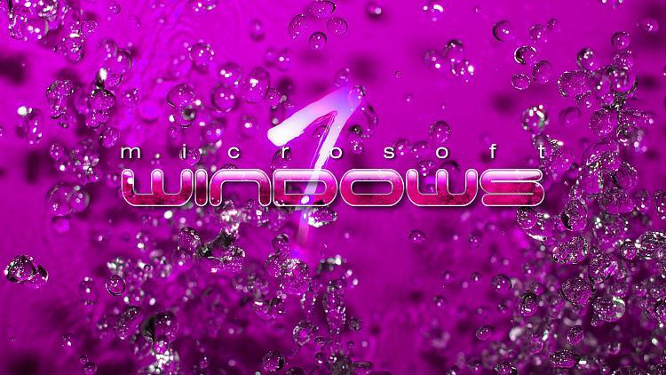 Custom Windows 7 Wallpapers - The Continuing Saga-win7-water-drops-pink.jpg