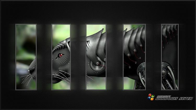 Custom Windows 7 Wallpapers - The Continuing Saga-se7en_carbon_steel_cyborg_panther.jpg