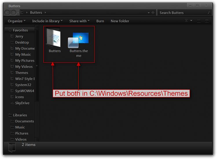 Move the address bar below the menu bar in Windows Explorer-butters.png