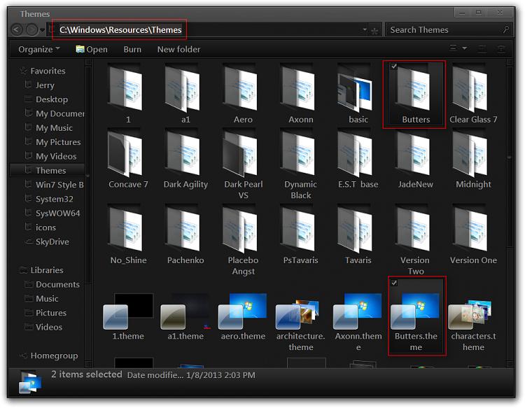 Move the address bar below the menu bar in Windows Explorer-themes.png