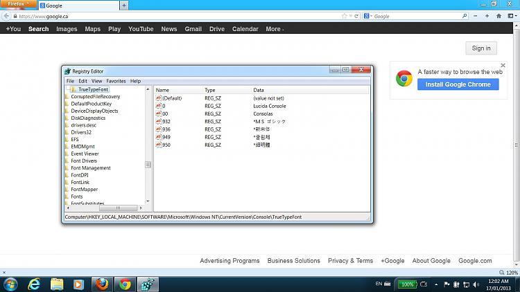 How do I change Windows console font-screen.jpg