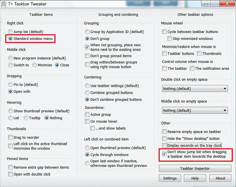 Completely disable Jump List trigger-7-taskbar-tweaker.png