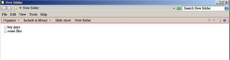Remove the 'organize, include in library, new folder' bar in windows 7-.jpg