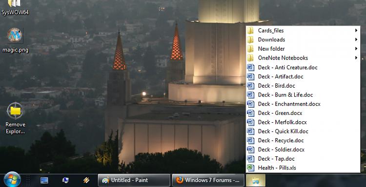 Popup folder from taskbar-popup-folder.png