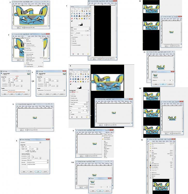 Easy make a rectangular Start Button with The Gimp, RWCE, and W7SBC-windows7startbuttonfreewaretutorial1.jpg