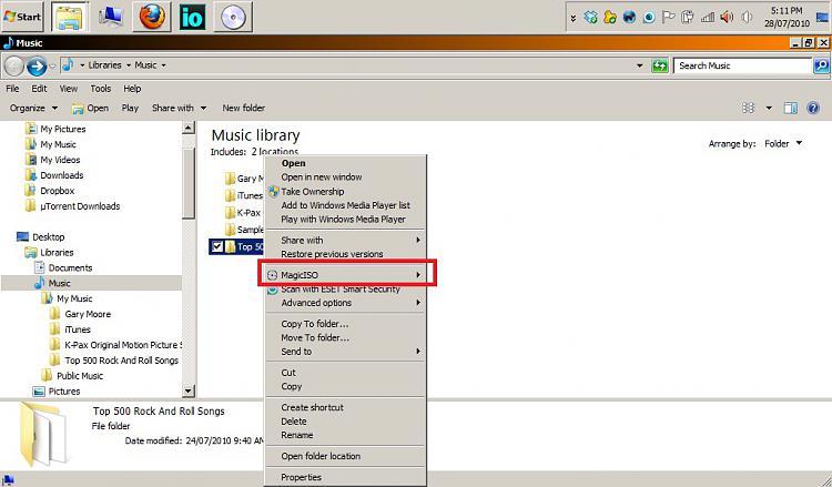 Unable to remove MagicISO context menu from right click menu
