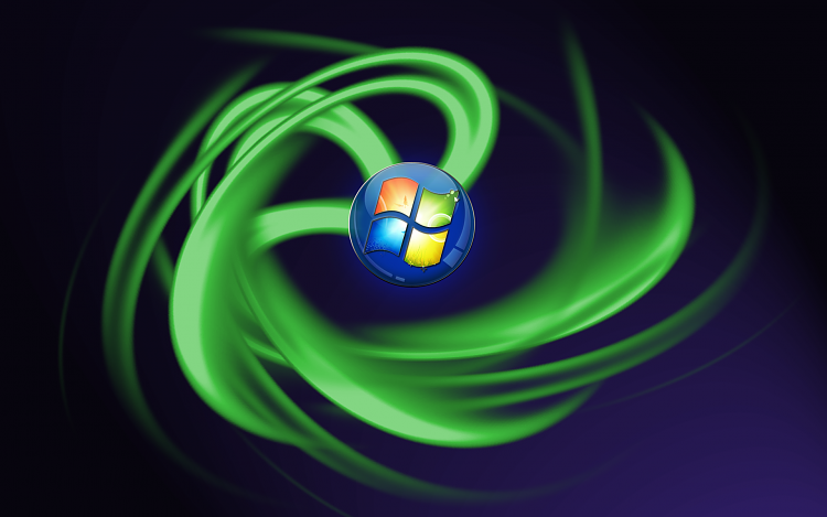 Custom Windows 7 Wallpapers - The Continuing Saga-windows-spiral-green.png