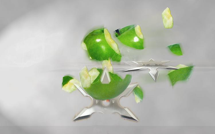Custom Windows 7 Wallpapers - The Continuing Saga-apple-ninja2.png