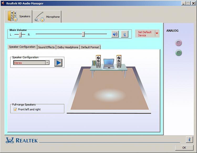 realtek hd audio manager windows 7 asus